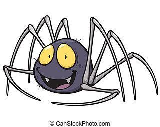 Vector illustration of Spider cartoon