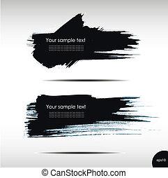 Vector illustration of Splash banners set