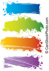 Splash banners - Vector illustration of Splash banners