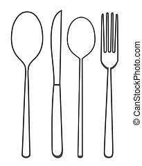 Vector illustration of spoon