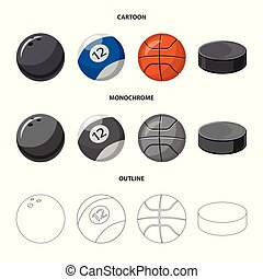 Vector illustration of sport and ball logo. Collection of sport and athletic stock symbol for web.