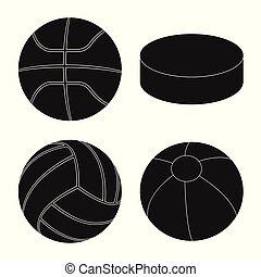 Vector illustration of sport and ball logo. Collection of sport and athletic stock vector illustration.