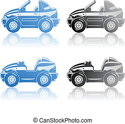 Roadster and targa - vector illustration of sport car -...