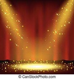 Spotlight shining with sprinkles