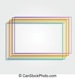 square made from color lines