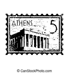 Vector illustration of stamp or postmark style grunge
