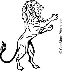 Vector Illustration Of Standing Lion