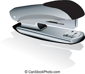 stapler - Vector illustration of staplers with dropped...