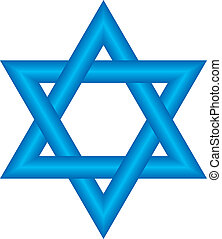 star of David - Vector illustration of star of David (Magen ...