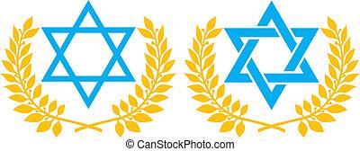 Vector illustration of star of David (symbol of Israel)