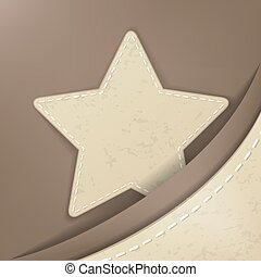 Star shape stitched object