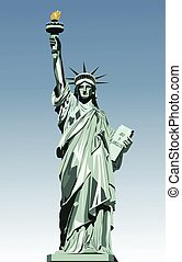 statue of liberty - vector illustration of statue of liberty...