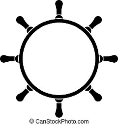 steering wheel - Vector illustration of steering wheel