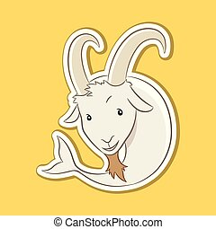 Sticker of Capricorn Zodiac Sign