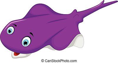 vector illustration of stingray cartoon for you design