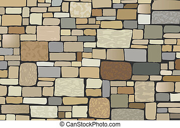 stone wall - vector illustration of stone wall with copy...