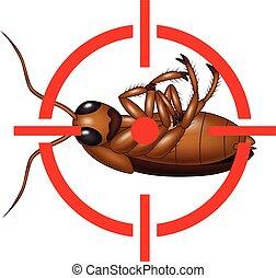 Stop Cockroach - Vector illustration of Stop Cockroach