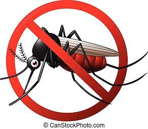 Stop mosquito symbol