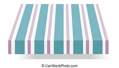 vector illustration of Storefront Awning in blue and purple