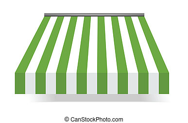 vector illustration of Storefront Awning in green