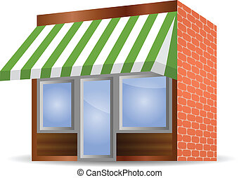 Storefront Clipart Vector Graphics 3 600 Storefront Eps