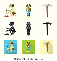 Vector illustration of story and items icon. Set of story...