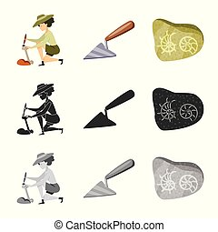 Vector illustration of story and items symbol. Set of story...