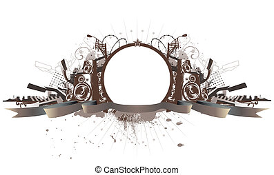 urban grunge frame - Vector illustration of style urban ...