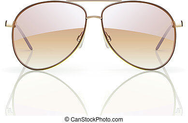 aviator sunglasses - Vector illustration of stylish aviator...