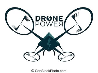 Vector illustration of stylized drone