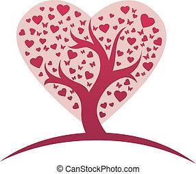 Stylized love tree