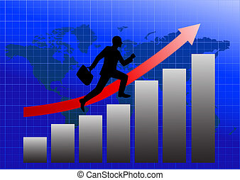Success in business - vector illustration of Success in...