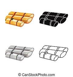Vector illustration of sugar and cane symbol. Collection of sugar and plant stock vector illustration.