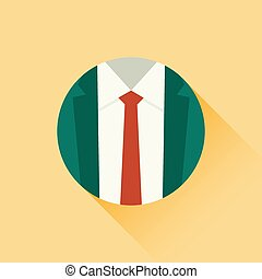 Vector illustration of suit and red tie
