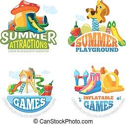 Vector illustration of summer labels - Vector illustration...