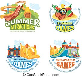 Vector illustration of summer labels - Vector illustration...