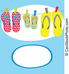 Vector illustration of Summer tropical banner
