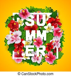 Summer Typographical Background