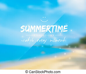 Summertime background - Vector illustration of Summertime...