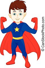 Super hero boy posing