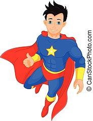 Super hero boy thumb up