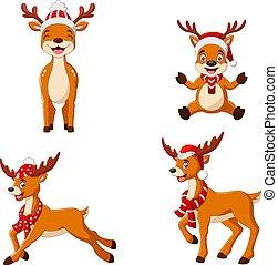 Sweet Christmas deer collection set