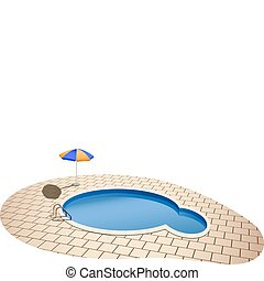 swimming pool - vector illustration of swimming pool and...