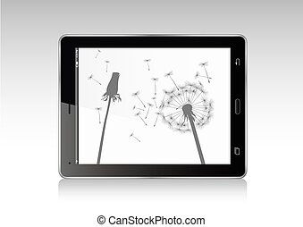 Vector illustration of Tablet.