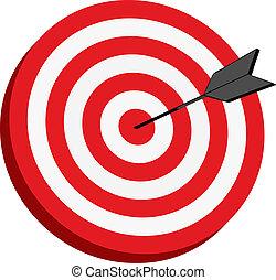 Vector illustration of target board
