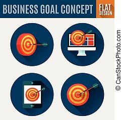 target marketing icon. - Vector Illustration of target...