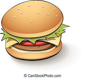 Tasty Burger Cartoon