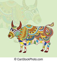 vector illustration of Taurus Zodiac Sign