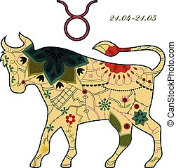 Taurus zodiac sign retro