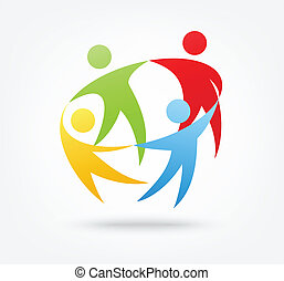 Vector illustration of Team work icon